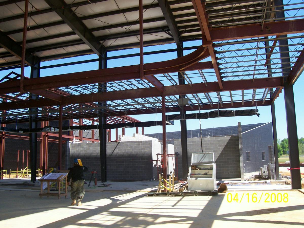 SportPlex Starkville Metal Stud Framing | Craddock Construction ...